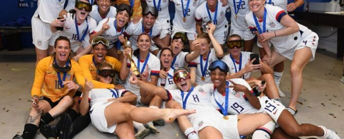 US Women's Soccer Team Celebration
